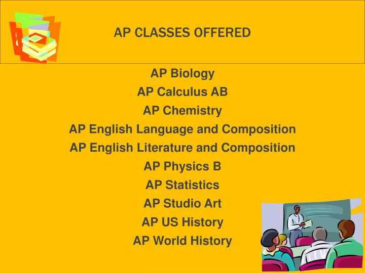 AP Classes offered