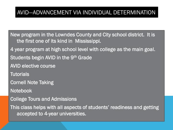 AVID—Advancement via Individual Determination