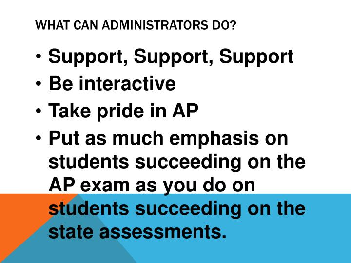 What Can Administrators Do?