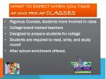 what to expect when you take ap and pre ap classes