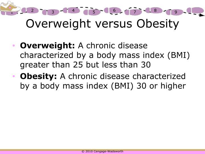Overweight versus Obesity