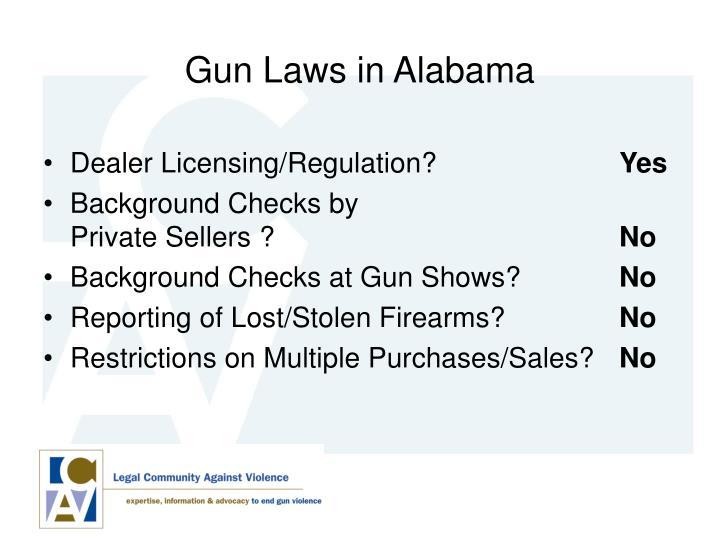 Gun Laws in Alabama