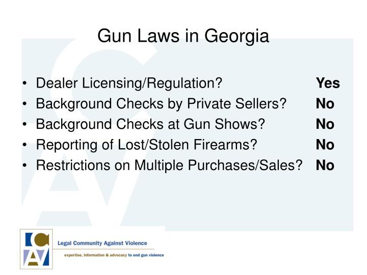 Gun Laws in Georgia