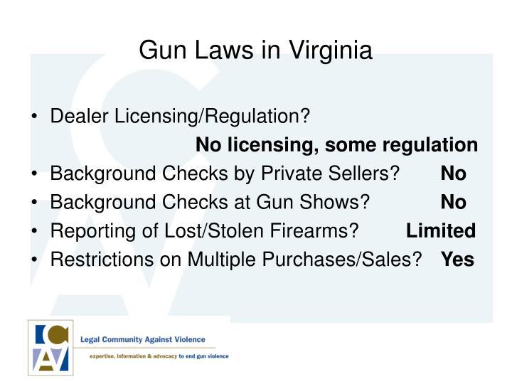Gun Laws in Virginia