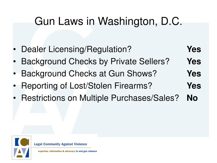 Gun Laws in Washington, D.C.
