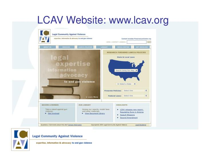 LCAV Website: www.lcav.org
