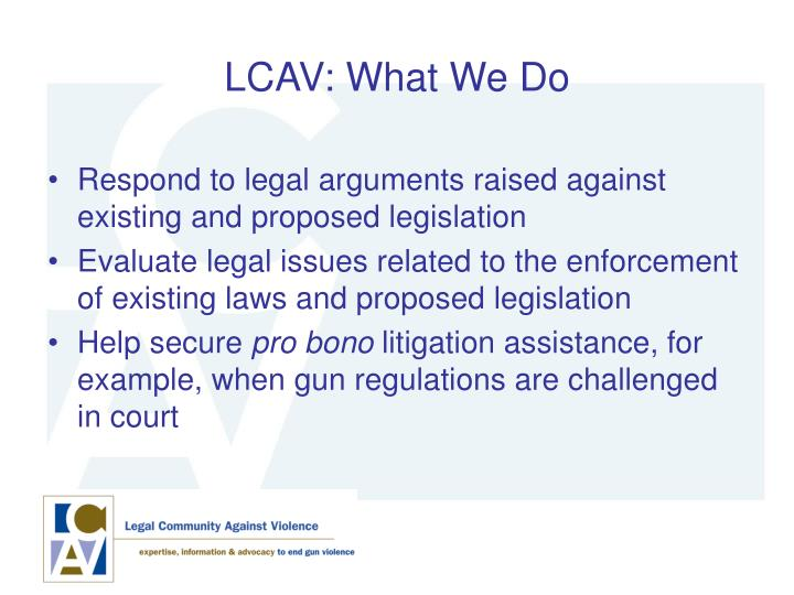 LCAV: What We Do