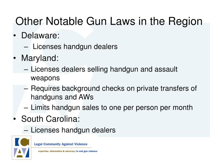 Other Notable Gun Laws in the Region