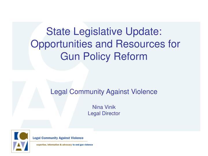State Legislative Update: