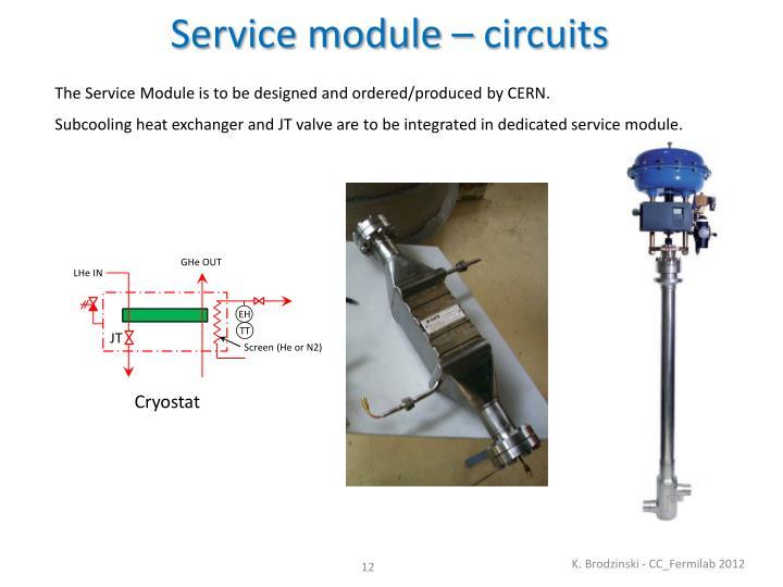 Service module – circuits