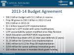 2013 14 budget agreement