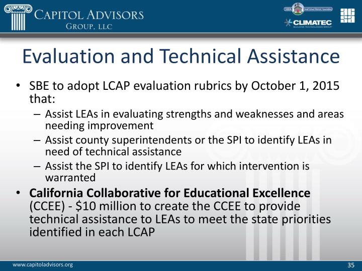 Evaluation and Technical Assistance