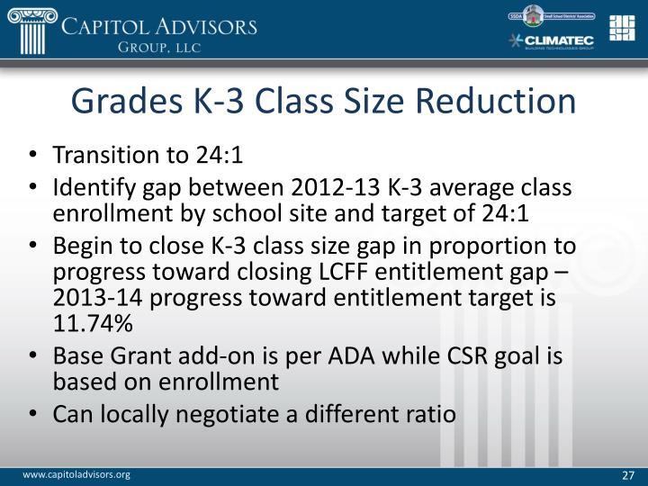 Grades K-3 Class Size Reduction