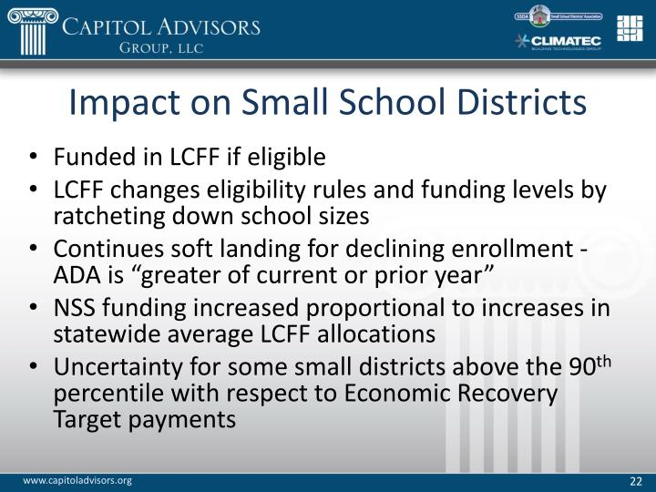 Impact on Small School Districts