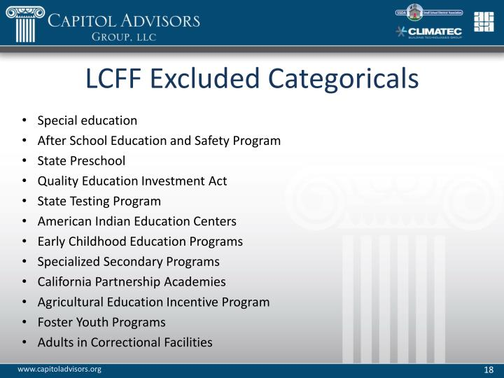 LCFF Excluded