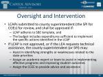 oversight and intervention