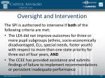 oversight and intervention1