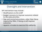 oversight and intervention2