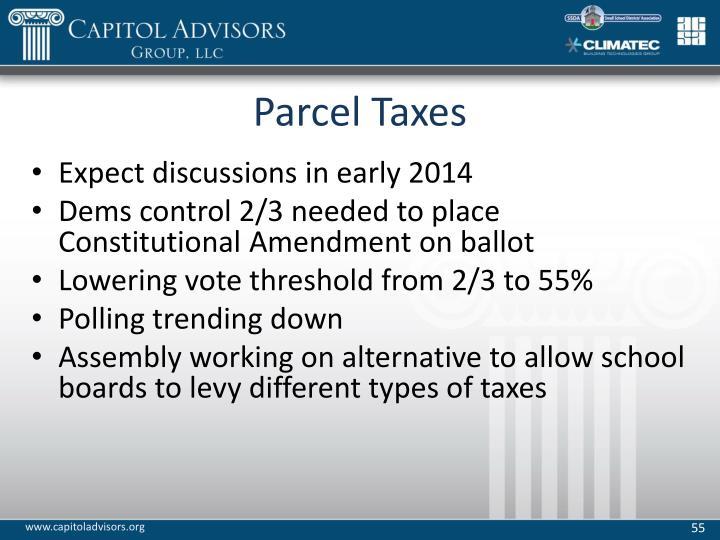 Parcel Taxes