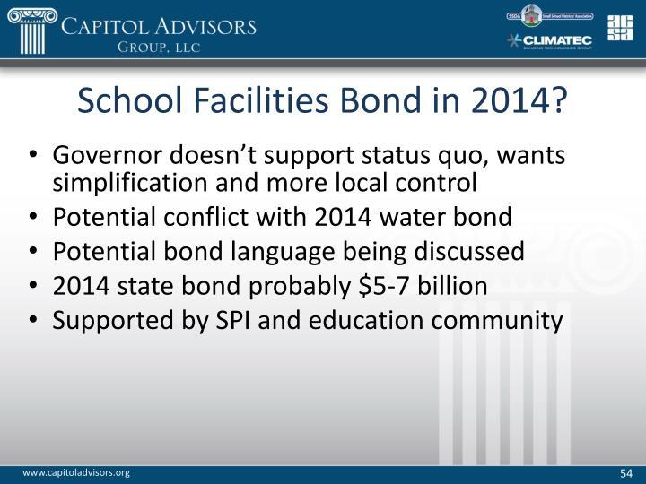 School Facilities Bond in 2014?