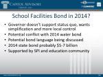 school facilities bond in 2014