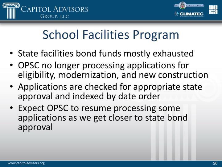 School Facilities Program