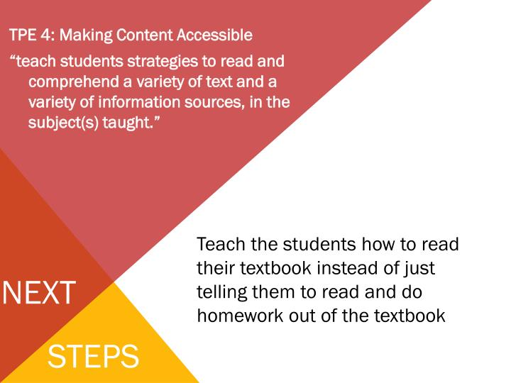 TPE 4: Making Content Accessible