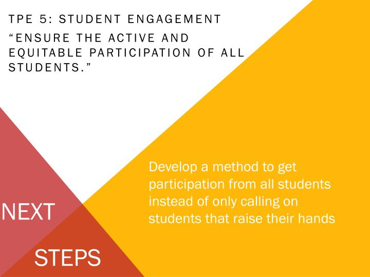 TPE 5: Student Engagement