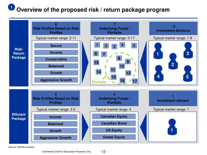 Overview of the proposed risk / return package program