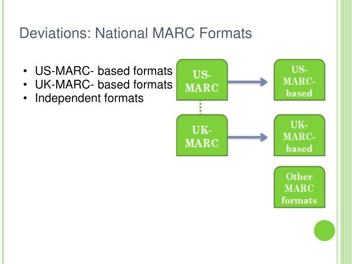 US-MARC- based formats