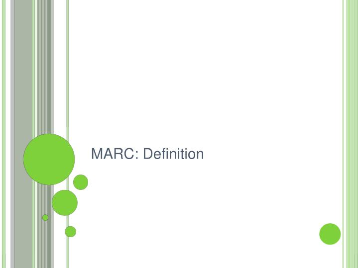 MARC: Definition