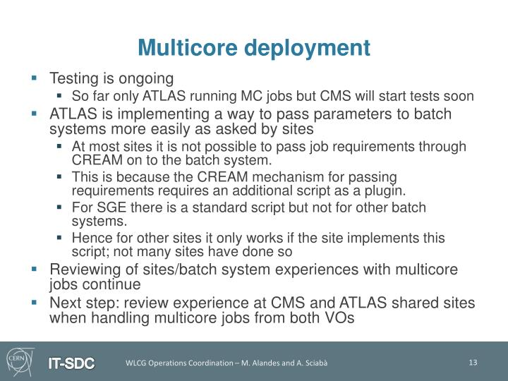 Multicore deployment
