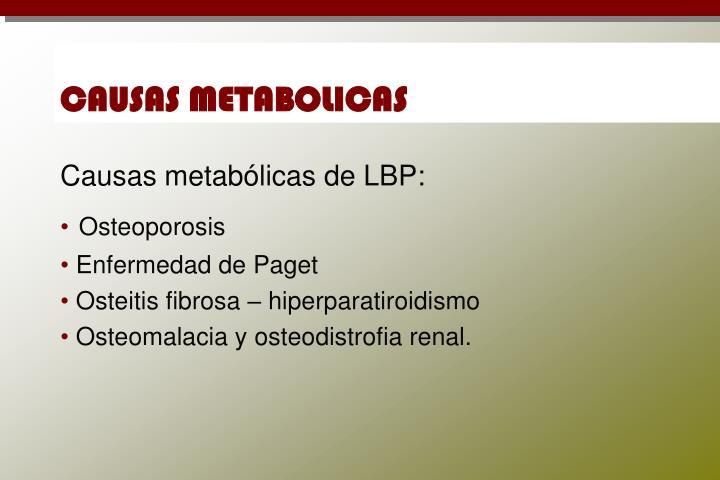 CAUSAS METABOLICAS