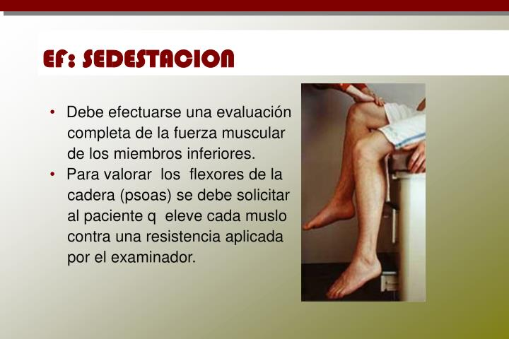 EF: SEDESTACION