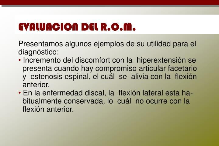 EVALUACION DEL R.O.M.