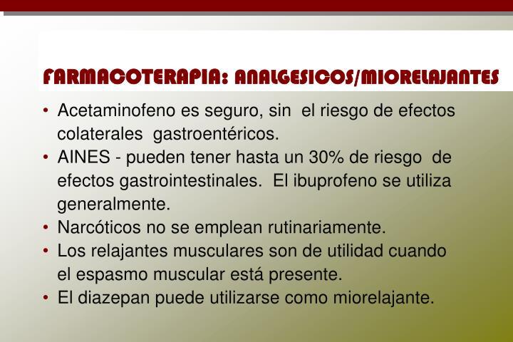 FARMACOTERAPIA: