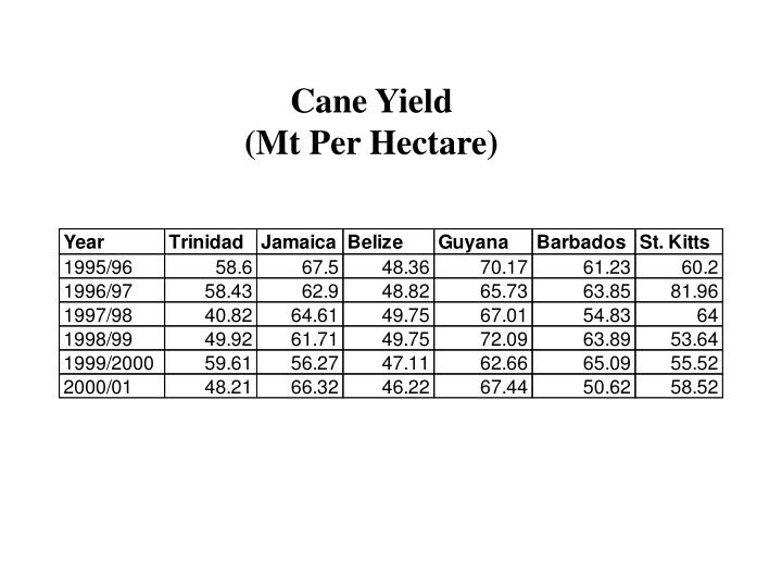 Cane Yield