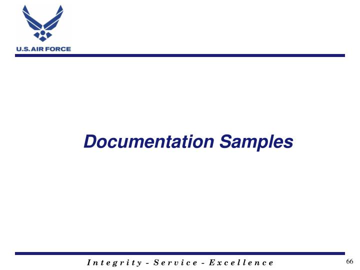 Documentation Samples