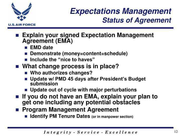 Expectations Management