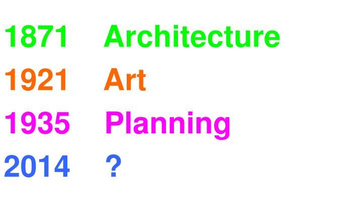1871    Architecture