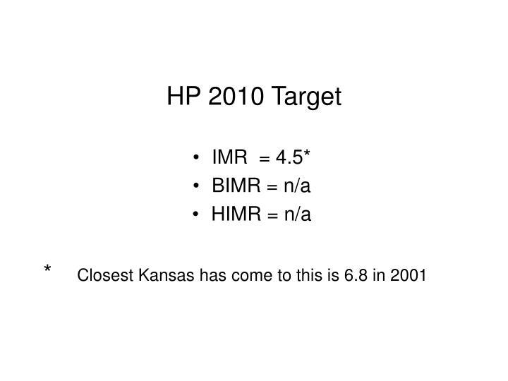 HP 2010 Target