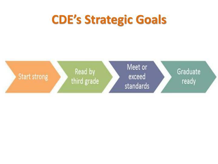 CDE's Strategic Goals