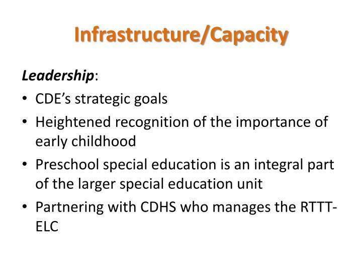 Infrastructure/Capacity