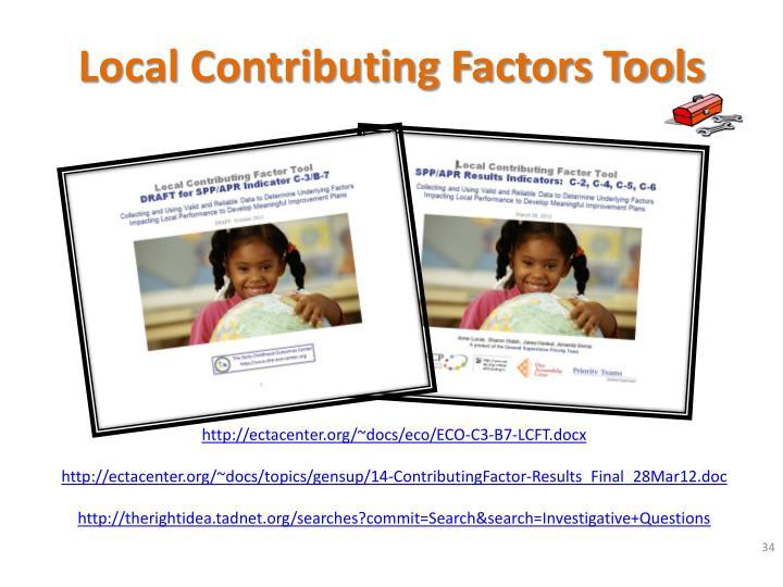 Local Contributing Factors Tools