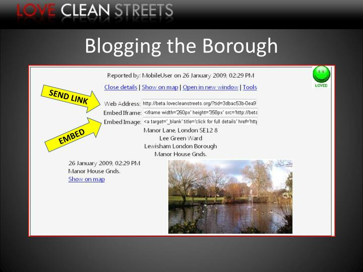 Blogging the Borough