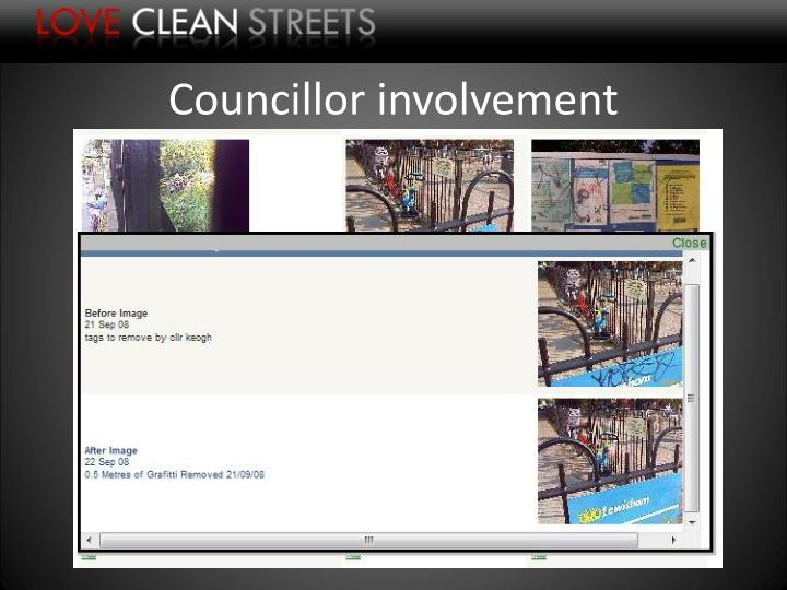 Councillor involvement