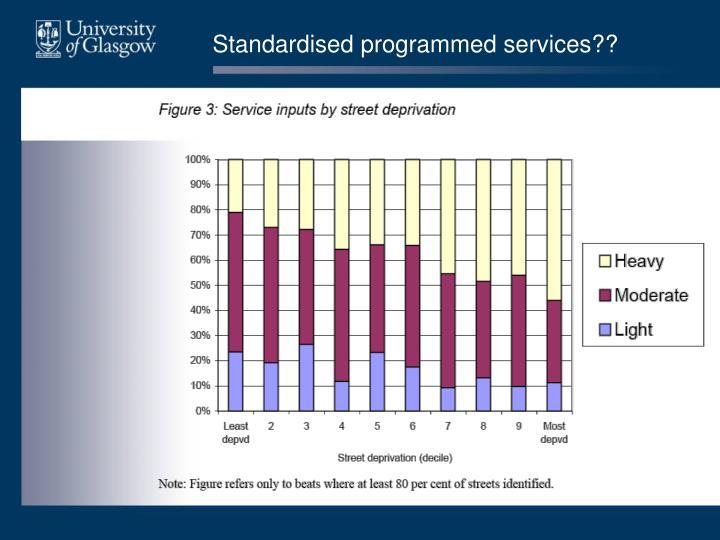 Standardised programmed services??