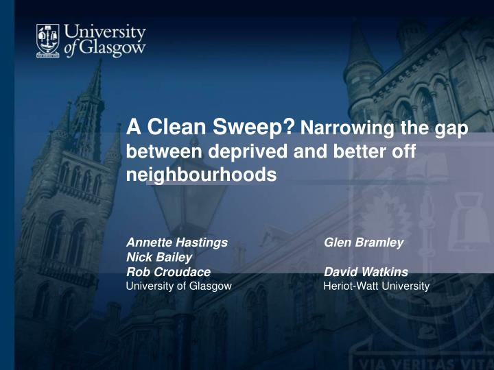 A Clean Sweep?
