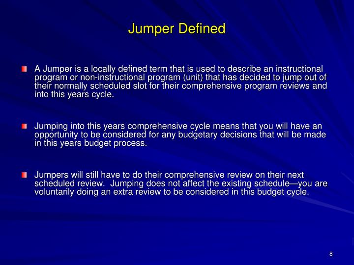 Jumper Defined