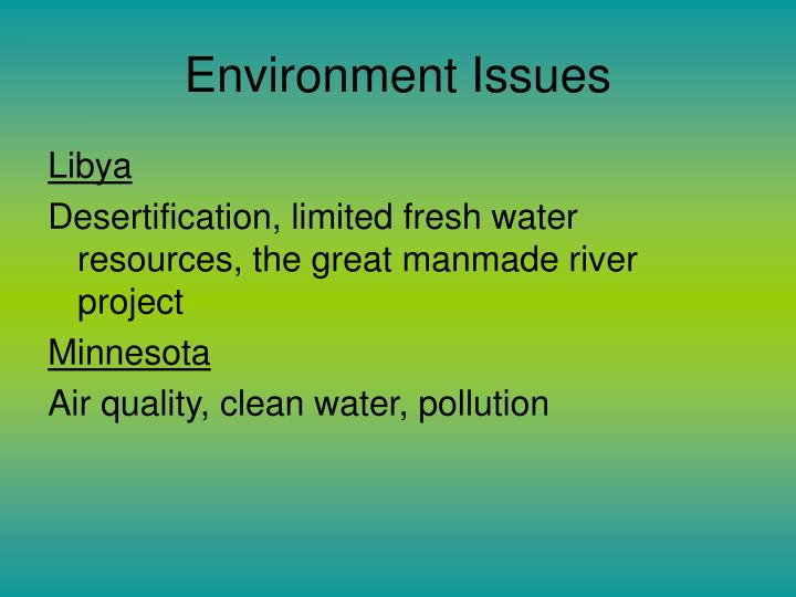 Environment Issues